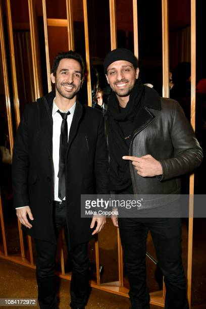 Amir Arison and Ari'el Stachel attend the 'Mary Poppins Returns' after party hosted by the Cinema Society at The Top of The Standard on December 17...