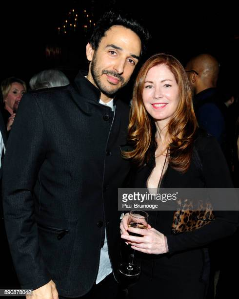 Amir Arison and Dana Delany attend the New York premiere of 'Phantom Thread' After Party at Harold Pratt House on December 11 2017 in New York City