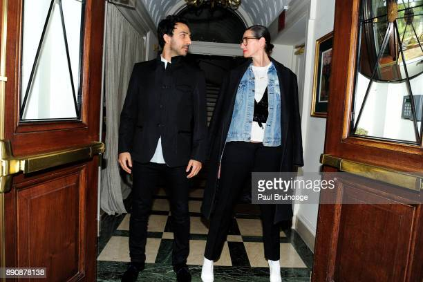 Amir Arison and Jenna Lyons attend the New York premiere of 'Phantom Thread' After Party at Harold Pratt House on December 11 2017 in New York City