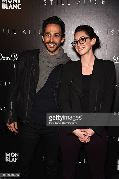 Amir Arison and Mozhan Marno attend The Cinema Society with Montblanc and Dom Perignon screening of Sony Pictures Classics' 'Still Alice' at...