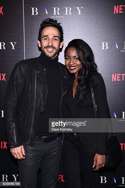 Amir Arison and Orenella Suad attends the screening of 'Barry' hosted by Netflix at Landmark's Sunshine Cinema on December 13 2016 in New York City