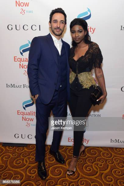 Amir Arison and Ornella Suad attend as Equality Now celebrates 25th Anniversary at 'Make Equality Reality' Gala at Gotham Hall on October 30 2017 in...