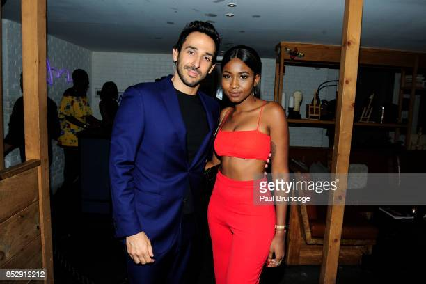 Amir Arison and Ornella Suad attend NBC Vanity Fair host a party for 'Will Grace' at Mr Purple at the Hotel Indigo LES on September 23 2017 in New...