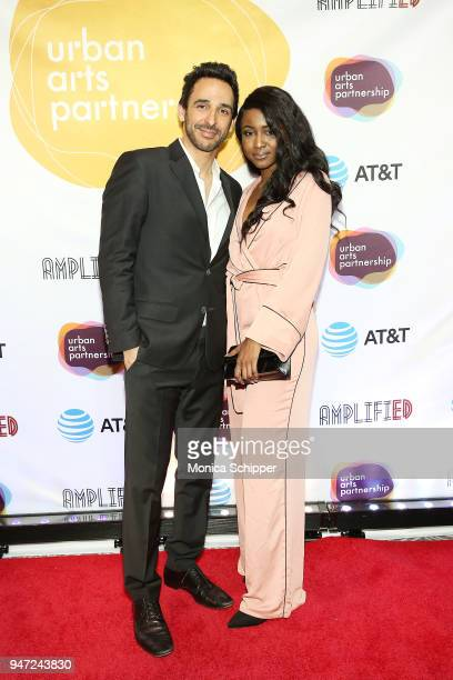 Amir Arison and Ornella Suad attend the Urban Arts Partnership's AmplifiED Gala at The Ziegfeld Ballroom on April 16 2018 in New York City