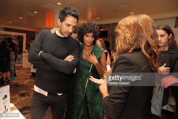 Amir Arison and Poorna Jagannathan attend the HBO LUXURY LOUNGE presented by ANCESTRY on January 6 2018 in Beverly Hills California