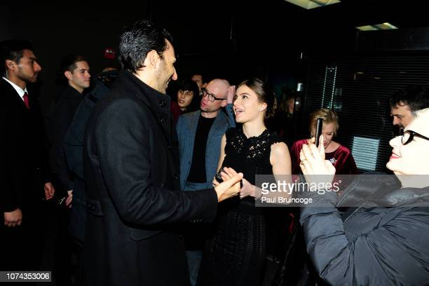 Amir Arison and Sami Gayle attend The Cinema Society With FIJI Water Lindt Chocolate Entertainment Weekly People Host A Screening Of Disney's 'Mary...