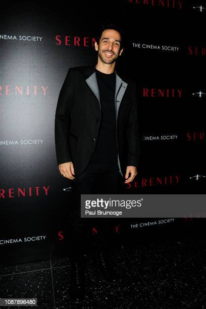 Amir Arison attends Aviron Pictures With The Cinema Society Host A Special Screening Of 'Serenity' at Museum of Modern Art on January 23 2019 in New...