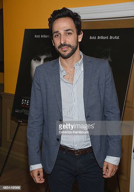 Amir Arison attends 'Steve Jobs The Man In The Machine' New York Screening at Crosby Street Hotel on August 27 2015 in New York City
