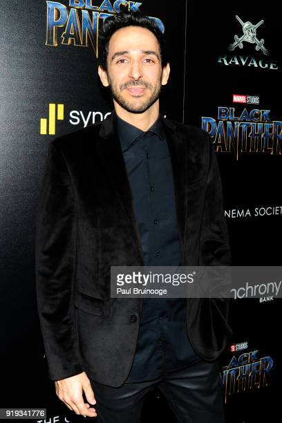 Amir Arison attends The Cinema Society with Ravage Wines Synchrony host a screening of Marvel Studios' 'Black Panther' at The Museum of Modern Art on...