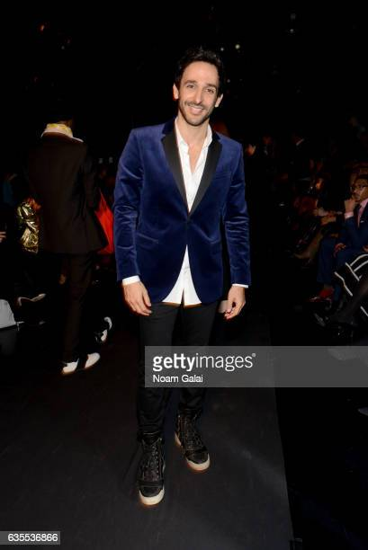 Amir Arison attends the Irina Vitjaz fashion show during New York Fashion Week The Shows at Gallery 1 Skylight Clarkson Sq on February 15 2017 in New...