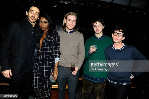 Amir Arison Ornella Suad Zachary Booth Kyle Russo and Paul Iacono attend Aviron Pictures with The Cinema Society host the after party for 'Serenity'...