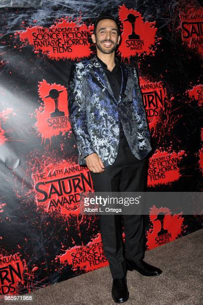 Amir Arison poses in the press room at the Academy Of Science Fiction Fantasy Horror Films' 44th Annual Saturn Awards at The Castaway on June 27 2018...