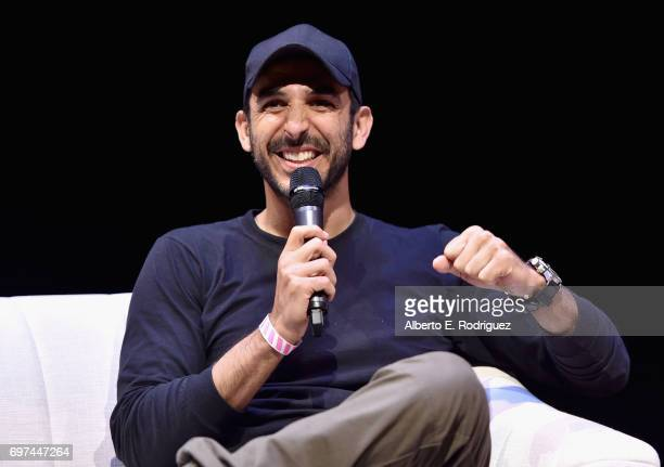 Amir Arison speaks at Coffee Talks during 2017 Los Angeles Film Festival at Kirk Douglas Theatre on June 18 2017 in Culver City California