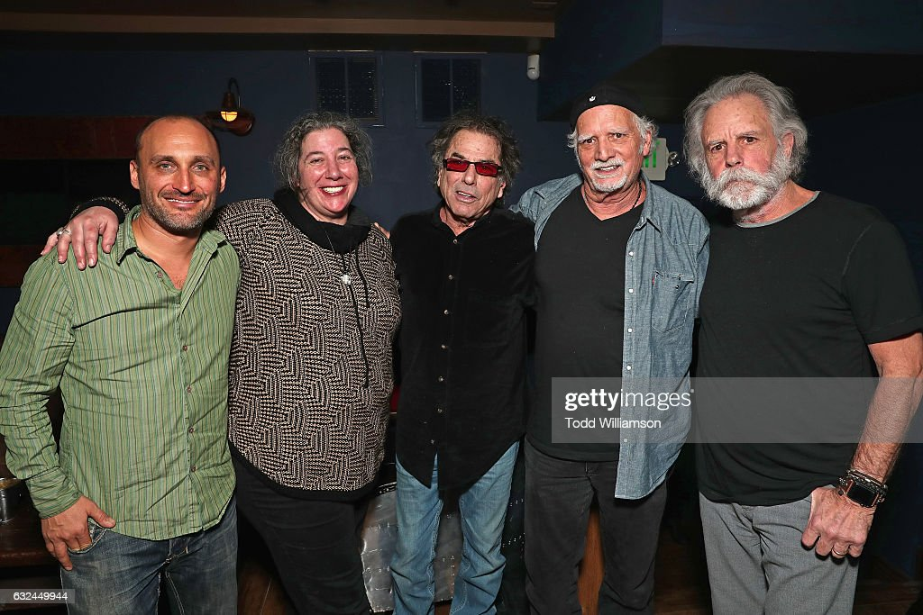 Amir Bar-Lev, Annabelle Garcia, Mickey Hart, Bill Kreutzmann, and Bob Weir attend the Amazon Studios celebration of 'Long Strange Trip' at the 2017 Sundance Film Festival, featuring a performance by Mickey Hart, Bill Kreutzmann, and Bob Weir, on January 22, 2017 in Park City, Utah.