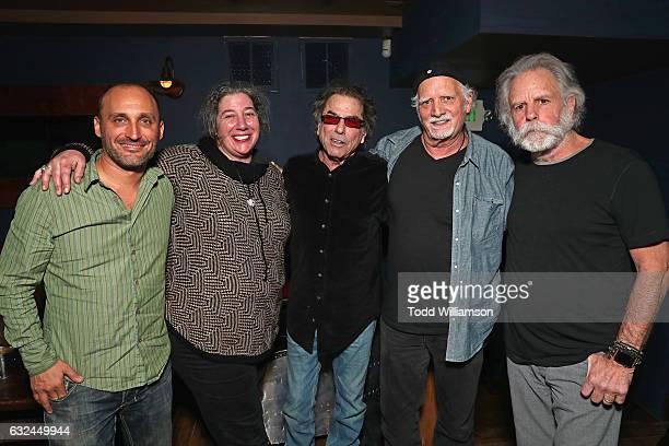 Amir BarLev Annabelle Garcia Mickey Hart Bill Kreutzmann and Bob Weir attend the Amazon Studios celebration of 'Long Strange Trip' at the 2017...