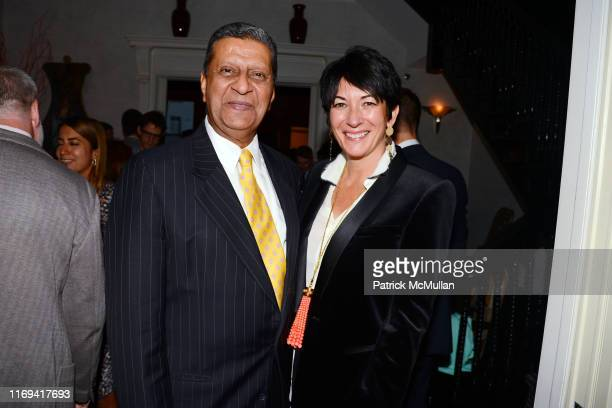 Amir Dossal and Ghislane Maxwell attend Dom Perignon Ghislaine Maxwell Invite you to a cocktail reception Celebrating the launch of Ideapod at 116...
