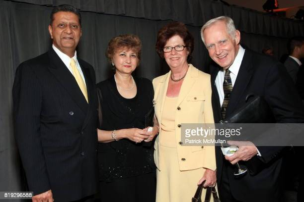 Amir Dossal, Tas Dossal, Judith Moore and Charles Moore attend INTERNATIONAL WIDOW'S DAY Dinner Hosted By Cherie Blair and The Loomba Foundation at...