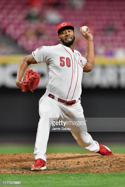 Amir Garrett of the Cincinnati Reds pitches against the Milwaukee Brewers at Great American Ball Park on September 24, 2019 in Cincinnati, Ohio.