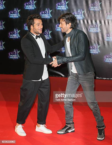 Amir Haddad and Enrique Iglesias arrive at the 18th NRJ Music Awards at the Palais des Festivals on November 12 2016 in Cannes France