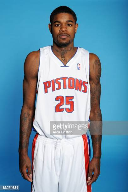 Amir Johnson of the Detroit Pistons poses for a portrait during NBA Media Day at the Pistons Practice Facility on September 29 2008 in Auburn Hills...