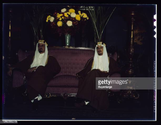 Amir Khalid and Amir Faisal sons of King Ibn Saud of Saudi Arabia visit the United States to make a special study of irrigation projects Washington...
