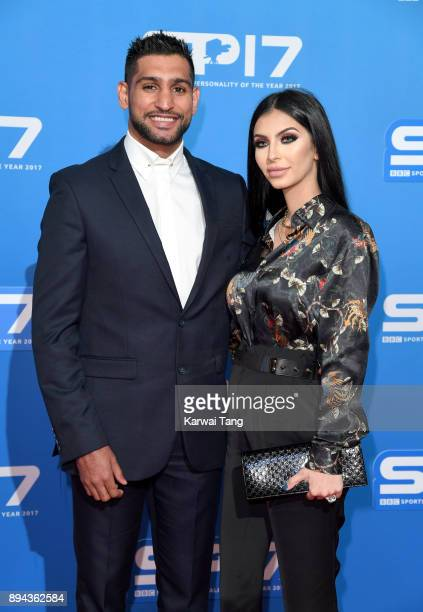 Amir Khan and Faryal Makhdoom attend the BBC Sports Personality of the Year 2017 Awards at the Echo Arena on December 17 2017 in Liverpool England