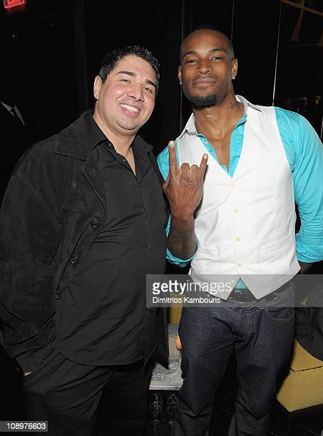 Amir Khan and Tyson Beckford attend the grand opening celebration at The Chandelier Room at W Hoboken on April 23 2009 in New York City