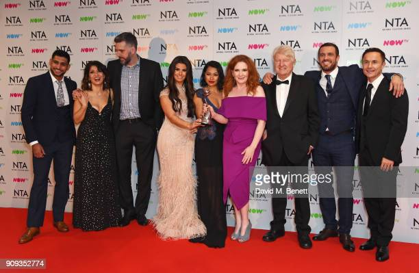 Amir Khan Shappi Khorsandi Iain Lee Rebekah Vardy Vanessa White Jennie McAlpine Stanley Johnson Jamie Lomas and Dennis Wise accepting the Challenge...