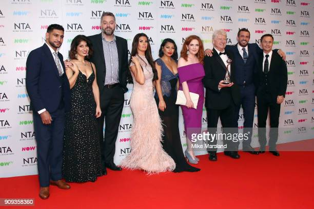 Amir Khan Shappi Khorsandi Iain Lee Rebekah Vardy Vanessa White Jennie McAlpine Stanley Johnson Jamie Loma and Dennis Wise pose with their Challenge...
