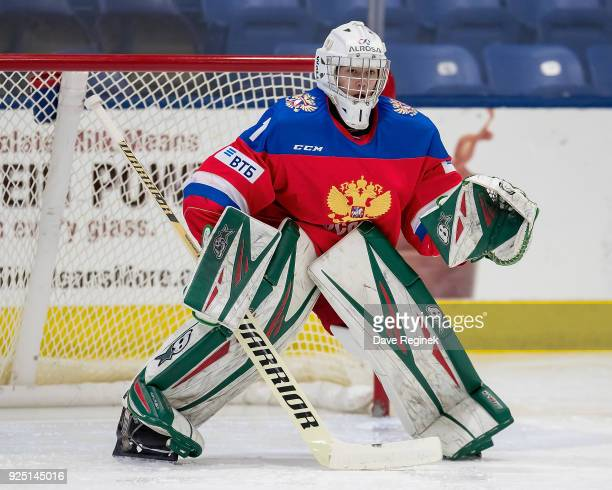 Amir Miftakhof of the Russian Nationals follows the play against the Finland Nationals during the 2018 Under18 Five Nations Tournament game at USA...