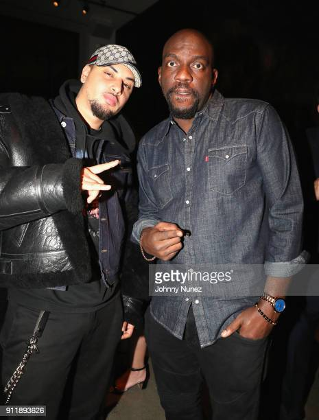 Amir Obe and Omar Dorsey attend Universal Music Group's 2018 After Party to celebrate the Grammy Awards supported by The House Of Remy Martin at...