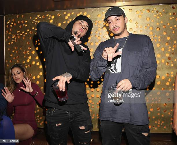 Amir Obe and Partynextdoor attend Profound Aesthitics Art Basel Partnership Event at Delano Hotel on December 3 2015 in Miami Florida