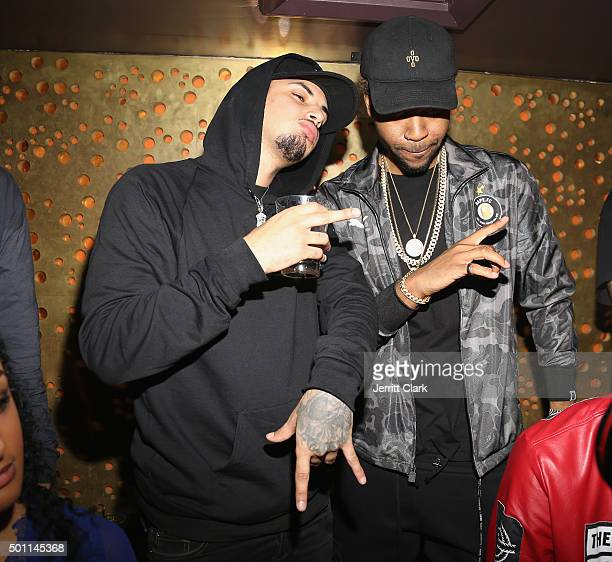 Amir Obe and Partynextdoor attends Profound Aesthitics Art Basel Partnership Event at Delano Hotel on December 3 2015 in Miami Florida