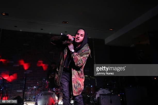 Amir Obe performs at the Def Jam Upfronts 2017 showcase at Kola House on May 9 2017 in New York City