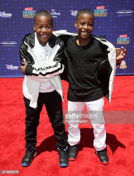 Amir O'neil and Amari O'neil attend the 2017 Radio Disney Music Awards at Microsoft Theater on April 29 2017 in Los Angeles California