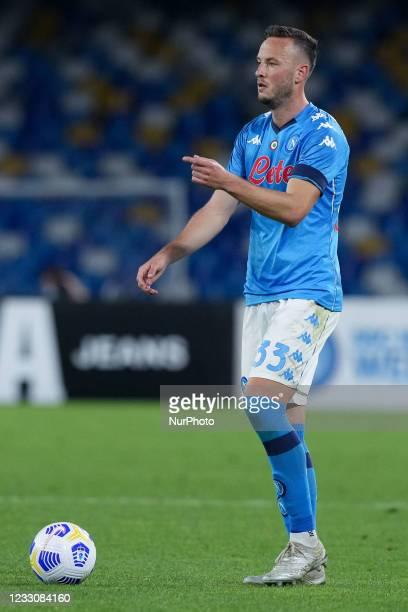 Amir Rrahmani of SSC Napoli during the Serie A match between SSC Napoli and Hellas Verona at Stadio Diego Armando Maradona, Naples, Italy on 23 May...