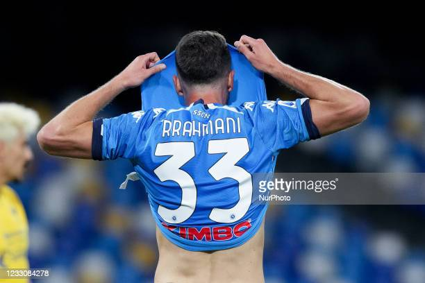 Amir Rrahmani of SSC Napoli looks dejected after missing the UEFA Champions League qualification during the Serie A match between SSC Napoli and...