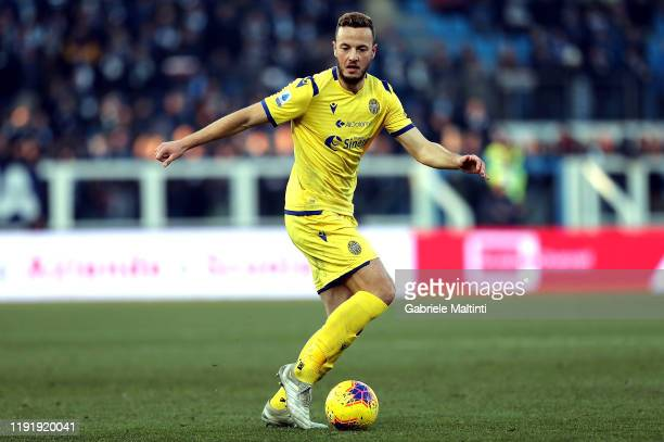 Amir Rrhamani of Hellas Verona in action during the Serie A match between SPAL and Hellas Verona at Stadio Paolo Mazza on January 5 2020 in Ferrara...