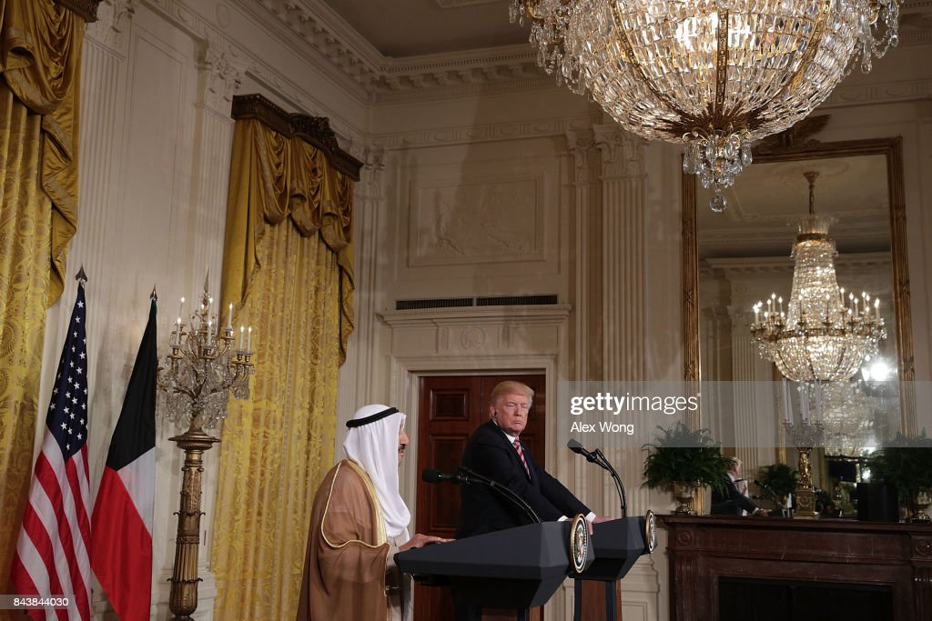 President Trump Holds Joint News Conference With The Amir Of Kuwait