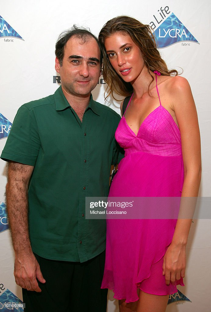 Amir Slama and Bianca Klmt during Sunglass Hut Swim Shows Miami Presented by LYCRA - VIP Lounge - Day 3 at Raleigh Hotel in Miami Beach, Florida, United States.