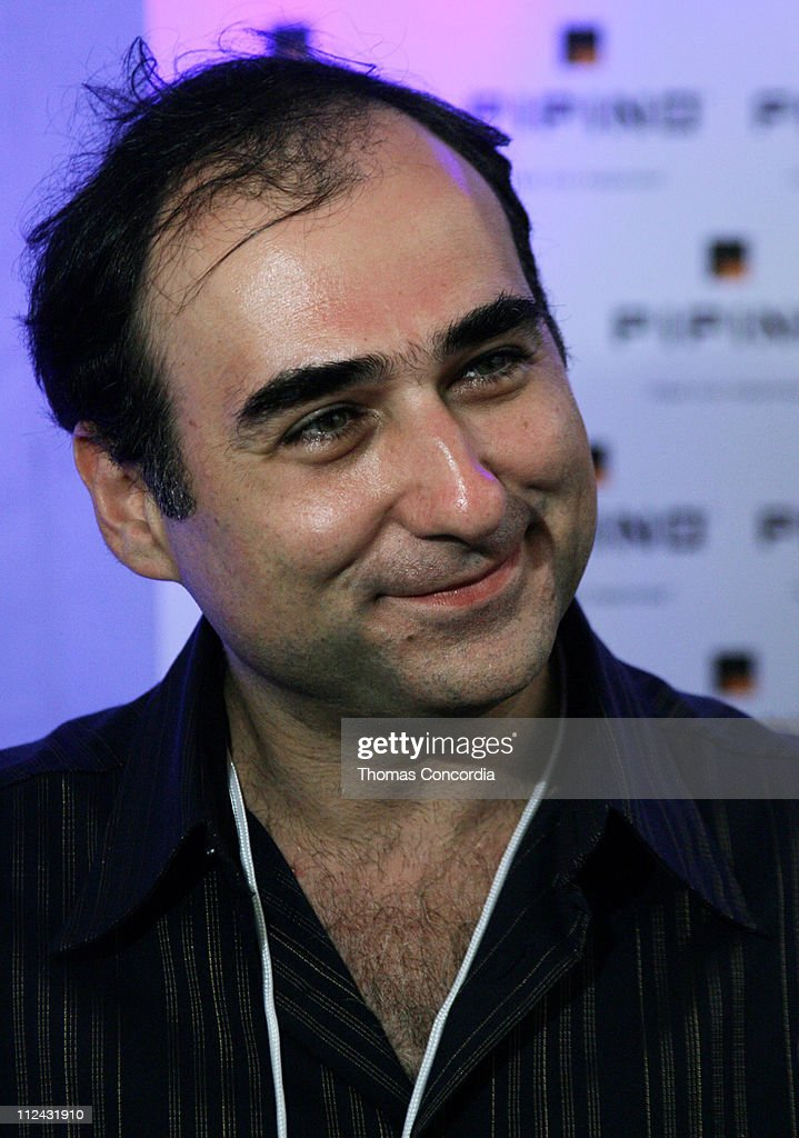 Amir Slama, designer backstage at Sais by Rosa Cha