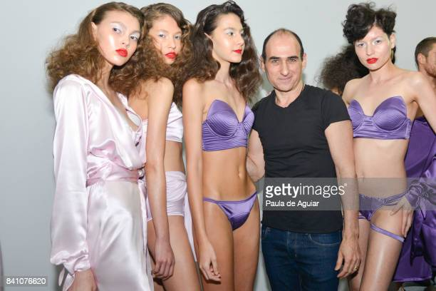 Amir Slama poses backstage at the Amir Slama show during SPFW N44 Winter 2018 at Ibirapuera's Bienal Pavilion on August 29 2017 in Sao Paulo Brazil