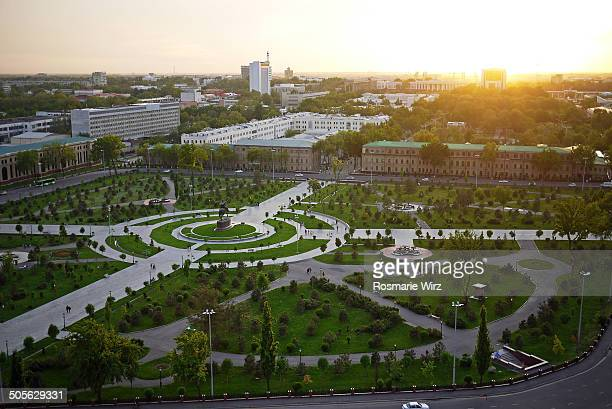 Amir Timur Square seen from above