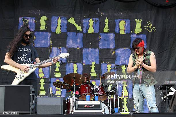 Amir Yaghmai and Alex Carapetis of The Voidz and Julian Casablancas performs at Primavera Sound Festival on May 29 2015 in Barcelona Spain