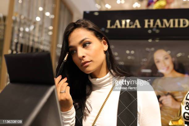 Amira Aly attends the 'Easy to pack brushes' launch by Laila Hamidi at Breuninger on March 16 2019 in Duesseldorf Germany