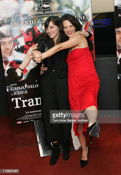 Amira Casar and Asia Argento during 'Transylvania' Premiere Arrivals at UGC CIne Cite Les Halles in Paris France