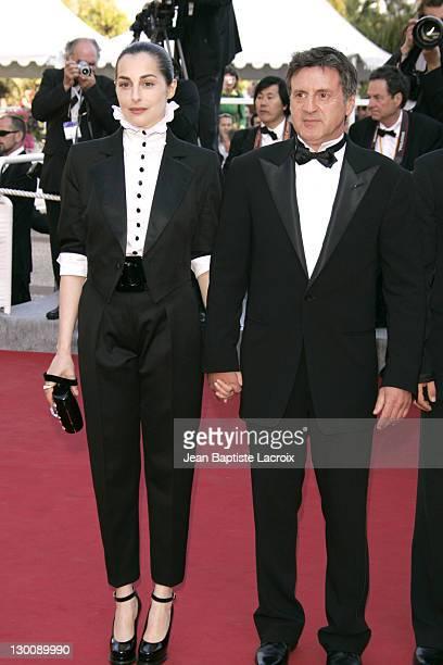 Amira Casar and Daniel Auteuil during 2005 Cannes Film Festival Peindre Ou Faire L'Amour Premiere at Le Palais de Festival in Cannes France