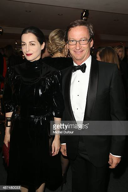 Amira Casar and Thaddeus Ropac attend the Annual Charity Dinner Hosted By The AEM Association Children Of The World For Rwanda on December 17 2013 in...