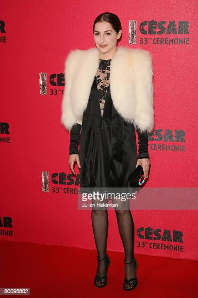 Amira Casar arrives at the Cesar Film Awards 2008 held at the Chatelet Theater on February 22 2008 in Paris France