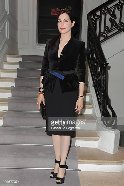 Amira Casar attends a dinner at Dior fashion house on October 19 2011 in Paris France